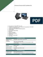Especificaciones Técnicas del HP TouchSmart TX2
