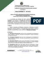 Edital - FAPEMAT - 001-2012