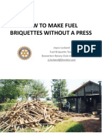 How to Make Fuel Briquettes Without a Press