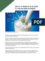Laptele românesc va dispărea de pe piaţă. Din 2015, vom bea lapte de import