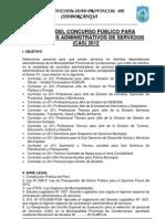 BASES DEL CONCURSO PÚBLICO PARA CAS - junio 2012