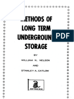 Long Term Under Ground Storage