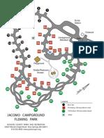 Jacomo Campground Sign Map