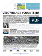 Velo Village Volunteers Newsletter #2