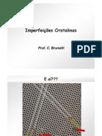 Aula 05 - Imperfeições cristalinas
