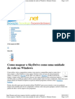 Brunno.net Como Mapear Skydrive Unidade Rede Windows