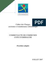 Cahier Des Charges Assistance Et Maintenance que