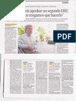 Entrevista al concejal andalucista J. Carlos Villalba en Europa Sur 27-05-12