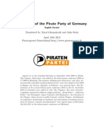 Piraten Party Platform