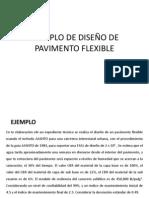 EJEMPLO DE DISEÑO DE PAVIMENTO FLEXIBLE