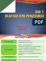 Bab 7 Islam Dan Ilmu Pengetahuan