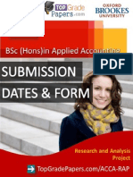 Acca - Bsc Hons Degree - Rap Submission Dates & Form - Top Grade Papers