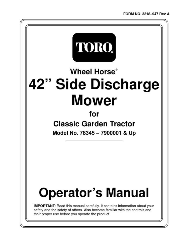 Mower-Rotary_42in-Side-Discharge-Mower_Operators-Manual