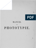 Manuel de phototypie par M. G. BONNET - 1889