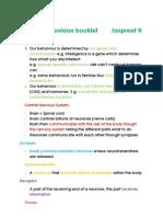 Biological Revision Booklet