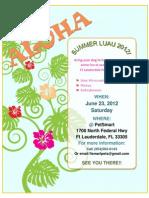 Luau 2012 Flyer