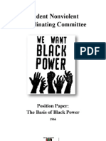 89290137 Student Nonviolent Coordinating Committee Position Paper the Basis of Black Power 1966