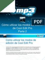 Como utilizar los modos de edición de Cool Edit Pro Parte 2