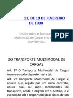 LEI Nº 9611 - TRANSPORTE MULTIMODAL