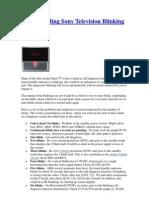 Understanding Sony Television Blinking Codes