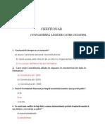 CHESTIONAR 1