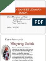 Kesenian Dan Kebudayaan Sunda