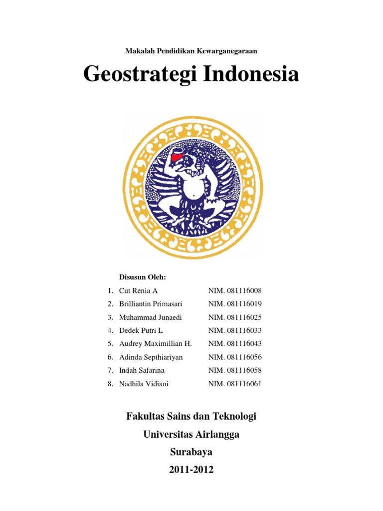 Makalah Geostrategi Indonesia Doc