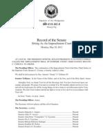 May 28 Senate impeachment court record