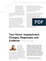 Impeachment Charges, Responses, And Evidence by Atty. Sadian