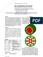 Mô hình hóa và mô phỏng động cơ từ trở thay đổi sử dụng phương pháp phân tích phần tử hữu hạn
