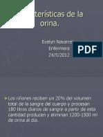 Características de la orina