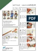 Four French paper dolls - Bernadette