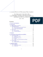 A Tutorial Review of Micro Array Data Analysis 17-06-08