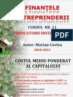 Curs 11 - Indic Investitiilor