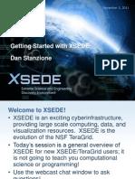 XSEDE NewUser Training Stanzione