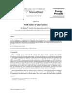NMR-Study 0f MEA