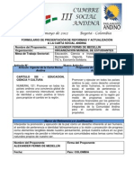 Propuesta de reforma Art. 121 Carta Social Andina