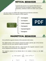 Magnetical Behavior