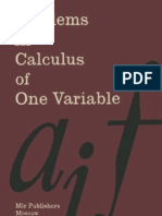 Problems in Calculus of One Variable - I a Maron