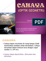 CAHAYA (Optik Geometri)