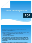 Channel Switching WCDMA