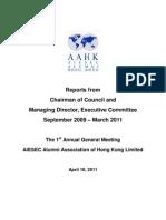 AAAHK Annual Report 2009-2011