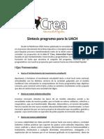 Síntesis Programa CREA Universidad Popular!