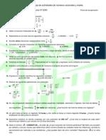 Hoja de actividades de números racionales y reales (3º ESO)