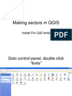 Making Sectors in QGIS