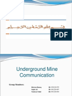 Underground Mine Communication