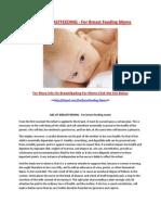 ABC of Breast Feeding - For Breast Feeding Moms