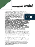 LOS SERVICIOS EL SECTOR SERVICIOS EN ESPAÑA