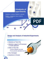 Design and Analysys of Ind. Experiments