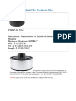 Baldwin Filter PA2825 Air Filter